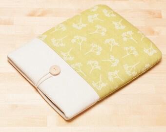Kobo Aura case / Kindle paperwhite sleeve,  kindle Oasis case /  Tolino case / ereader case  - Green floral -