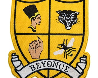 Beychella Inspired Embroidered Patch, Beyonce Inspired Embroidered Iron on Patch, Various sizes and colors