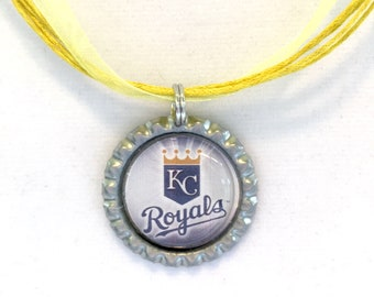 Kansas City ROYALS Baseball Handcrafted Necklace