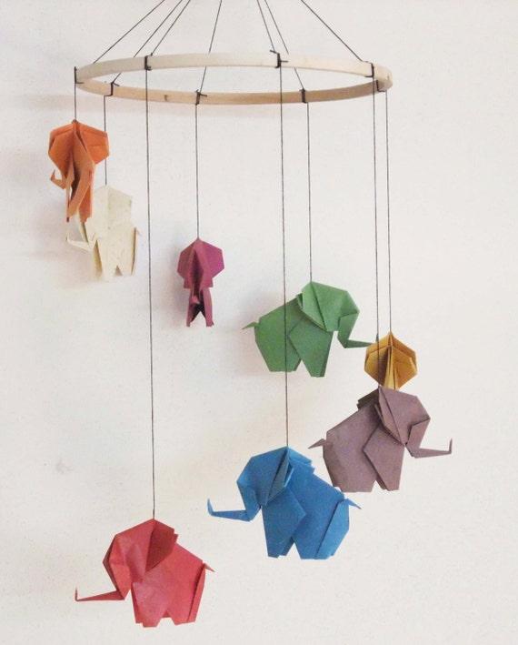 Origami Elephant Mobile Elephant Mobile Baby Mobile Home