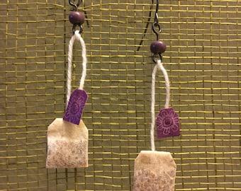 Mini Teabag Earrings