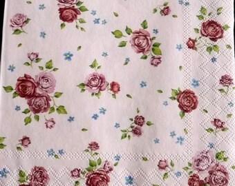 Small paper roses 3 towel