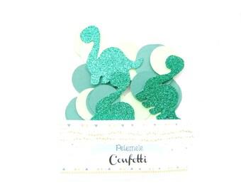 Circle & Dinosaur Confetti - Party Confetti, Dinosaur Confetti, Table Decor, Table Confetti, Glitter Confetti, Dinosaur Party