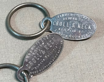 Croll and Keck Store Key Fobs Two Available