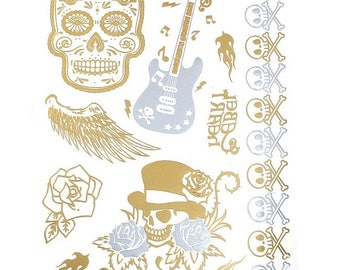 1 embroidery sheet of temporary tattoos 19.5 x 14.2