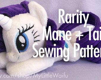 Rarity Mane + Tail Sewing Pattern