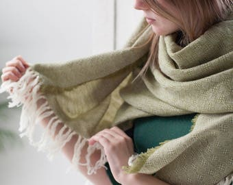 green blanket scarf winter large scarf olive green scarf shawl blanket scarf green neck scarf green wrap wide scarf green wool scarf