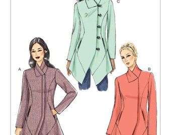 Vogue Pattern V9212 Misses' Seamed and Collared Jackets