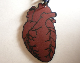 Red Human Heart Necklace