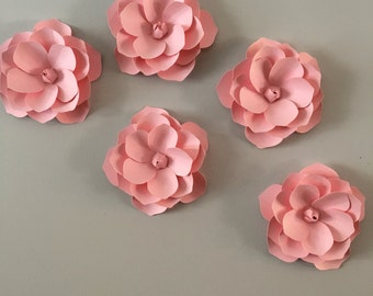 3D Wall Magnolia flowers  - Pink Magnolia flower  decal, wall decoration