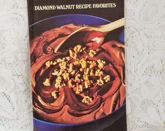 Diamond Walnut Recipe Favorites, Vintage Cookbook, Walnut Recipes, Vintage Recipe Booklet