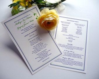 Sweet Branch Wedding Programs