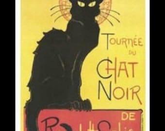 Steinlen - 'Tournee Du Chat Noir' 11x14 - Framed