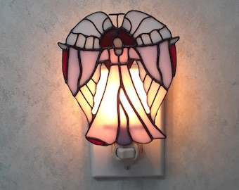 The Guardian Angel Stained Glass Night Light