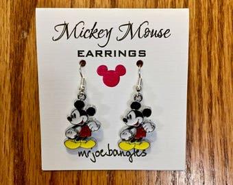 Mickey Mouse Earrings, Mickey Earrings