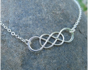 Always and Forever Double Infinity Necklace - Sterling Silver