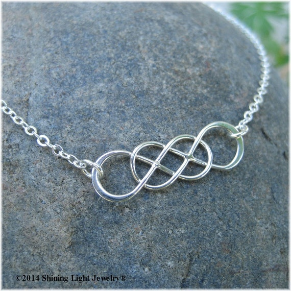 Always and Forever Double Infinity Necklace Sterling Silver