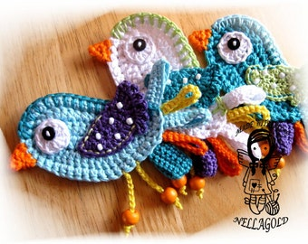 Crochet PATTERN, Applique, Little Bird, DIY Pattern 9