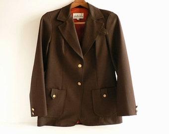 1970s Womens Brown Blazer