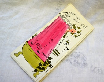1950s NOS Get Well Card with Envelope