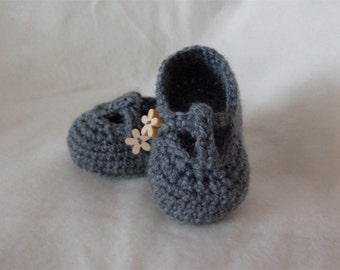 T-Bar Crochet Baby Shoe Booties - Custom - MADE TO ORDER