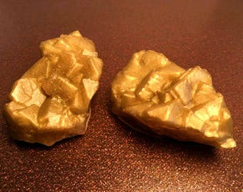 Gold Nugget Rock Soap - Gold Rush - Gold - Gold Soap - Vanilla Hazelnut Scented - Gift for Mom, Sister, Her - FREE U.S. SHIPPING
