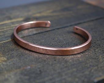 JASE Bracelet - Simple Copper Bracelet with Bright Polished Finish