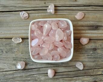 Tumbled Rose Quartz, Heart Chakra Stone, Meditation Stones, Meditation Stone Set, Chakra Stones, Healing Gemstone Set, Tumbled Gemstones,