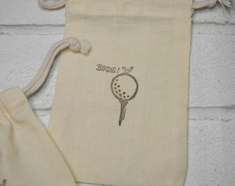 GOLF TEES BAGS, Sports Bags, Golf Supplies, Golf Bags, Golf Birthday Favors, Gift Wrapping, Gift Bags, Birdie Bags