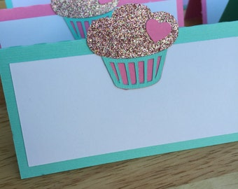Cupcake Party Food Tent Labels/ Cupcake Party Food Signs/ [set of 12]
