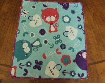 Childrens napkins, lunch box napkins, kitten napkins, Kidkins--party favors