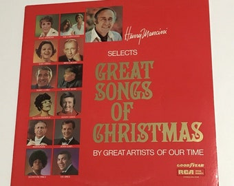 Henry Mancini Great Songs of Christmas Vintage Vinyl Record