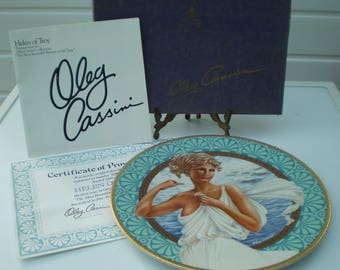 Pickard China PLate (Bradex) : Oleg Cassini's Beautiful Women of All Time Collection - Helen of Troy - USA