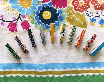 Decorative Mini Clothespins/Pegs Set of 10