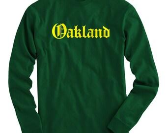 LS Oakland T-shirt - Gothic Long Sleeve Tee - Men and Kids - S M L XL 2x 3x 4x - 4 Colors