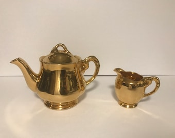 Royal Winton Golden Age 2 Cup Mini Teapot and Creamer