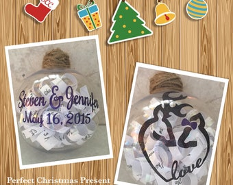 Wedding Keepsake Ornament, Gift, Christmas, Memory, Wedding Present