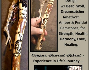 Family Communication, Group talk,Talking stick hiking stick,wood anniversary gift,retirement gift,recognition gift