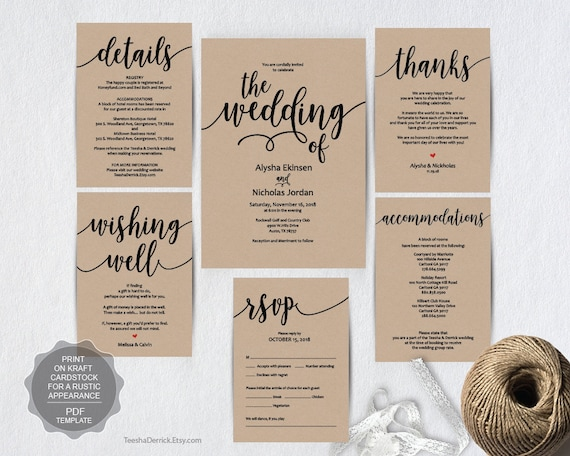 We do wedding invitation cards suite instant download pdf stopboris Choice Image