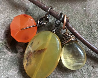 interchangeable charms, charm trio, copper