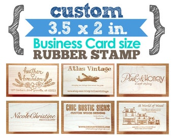 5 x 5 rubber stamp etsy 35 x 2 in business card your custom design art wood mounted rubber reheart Choice Image