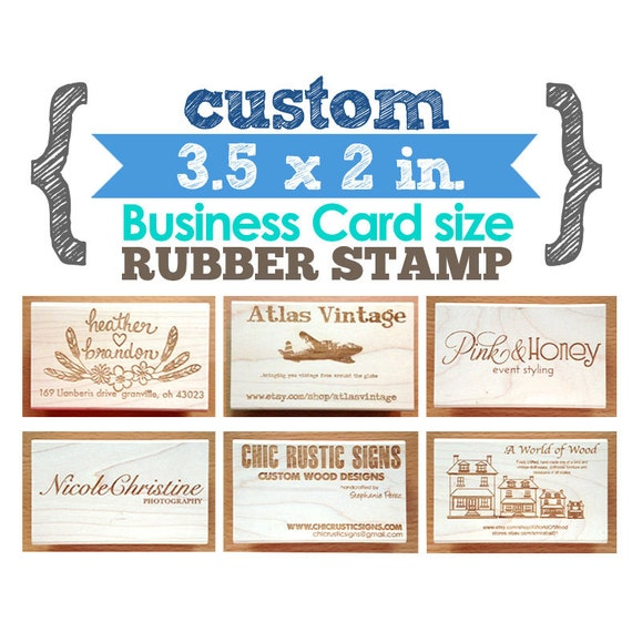35 x 2 in business card your custom design art wood like this item reheart Choice Image