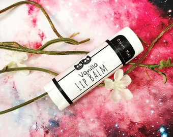 Vanilla Flavored Lip Balm - Natural Beeswax Lip Butter Vanilla Lip Balm