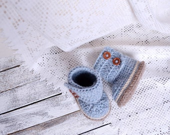 Crochet baby shoes-Crochet boots-Baby boots-Baby boy-Baby booties-Baby shoes-Baby gift-Crochet booties-Crochet baby boots