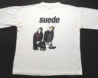 SUEDE vintage 1992 shirt - XL