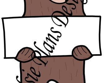 Sleepy Bear Custom Sign