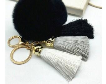 Pom Pom Fashion Keychain