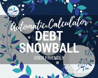Debt Snowball Automatic Calculator | Calculates Payments & Payoff Date