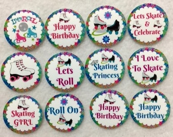 Set of 50/100/150/200 Roller Skating Birthday Party   1 Inch Confetti Circles