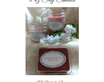 Essential Scented Soy Candles, Natural Candles, Soy Wax, 8 oz, Scented Wax, Mason Jar Candles